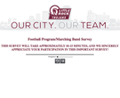 Survey questions about UALR football