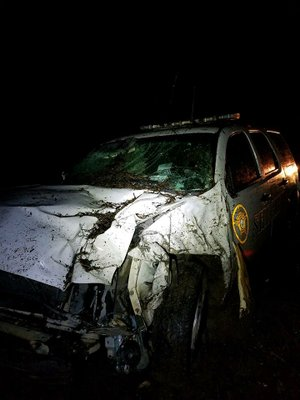 Deputy Skylar McElroy's crash on Friday, Feb. 23.