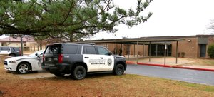 Gentry police officers and Benton County Sheriff's Office deputies were outside Gentry High School Friday morning to ensure the safety of students and staff following rumors, as yet unsubstantiated, of threats of a school shooting at the high school Friday. Security was also heightened at other Gentry school campuses.