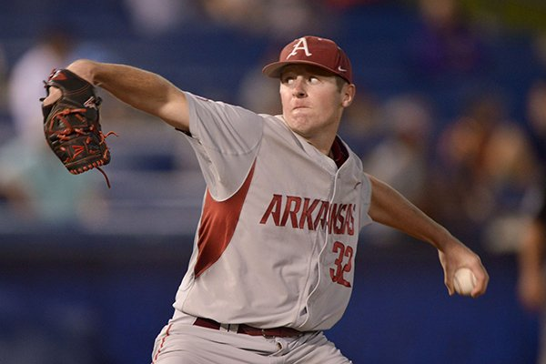 Arkansas relief pitcher Matt Cronin struck out five in four innings and earned his second win of the season against San Diego State on Saturday