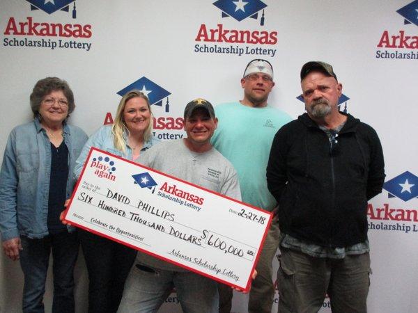 Losing lottery ticket ends up a $600,000 winner for Arkansas man