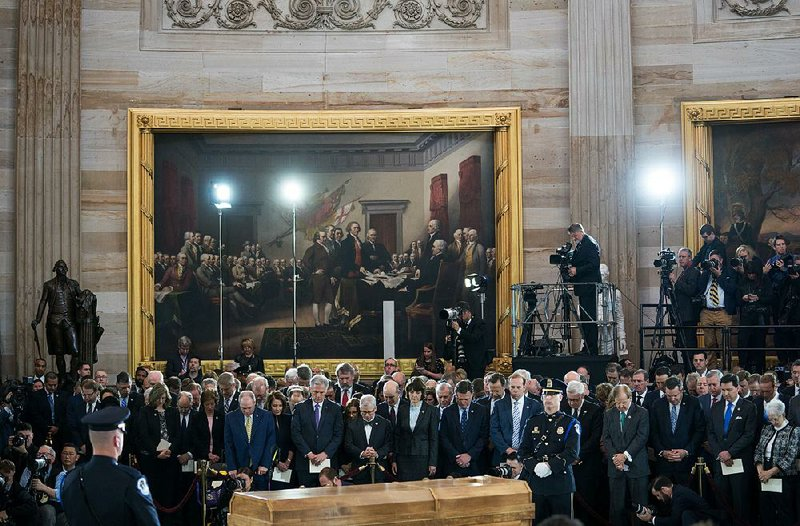 Graham Wa Weather >> Trump, members of Arkansas congressional delegation among D.C. throng honoring Graham