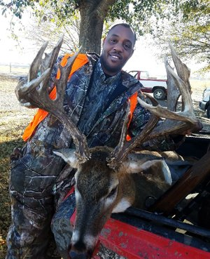 Jerry Hardaway of North Little Rock bagged this buck in December in Pulaski County while hunting on the ground after a long game of cat-and-mouse.