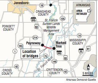 Arkansas' Sunken Lands bridges poised for deck redo
