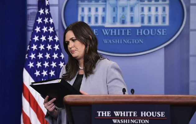 white-house-press-secretary-sarah-huckabee-sanders-ends-a-news-conference-wednesday-after-telling-reporters-that-in-a-reversal-from-earlier-stated-policy-exemptions-to-planned-steel-and-aluminum-tariffs-would-be-made-on-a-case-by-case-and-country-by-country-basis