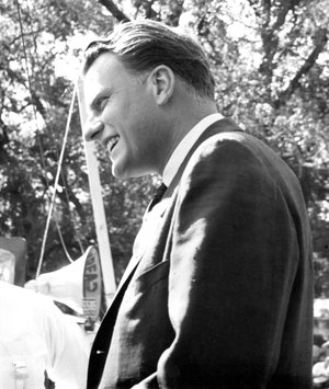 BILL BOWMAN Billy Graham spoke to a large crowd in Sulphur Springs on Monday, Sept. 14, 1959. He was in Sulphur Springs to attend a board of directors meeting of the Wycliffe Bible Translators.