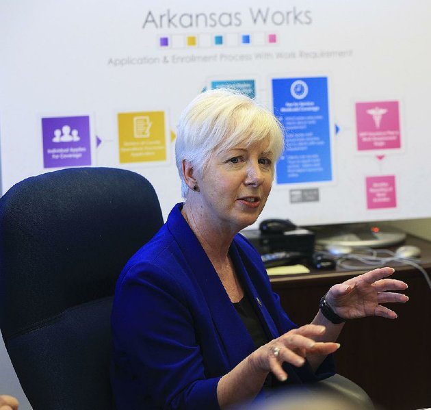 human-services-director-cindy-gillespie-on-thursday-explains-the-schedule-for-rolling-out-the-new-work-requirement-for-enrollees-in-the-expanded-medicaid-program