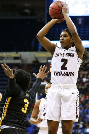 Monique Townson had 14 points, 7 rebounds and 4 assists to help lead UALR over Appalachian State at the Sun Belt Conference Tournament on Thursday.