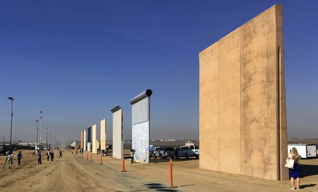 file-this-oct-26-2017-file-photo-shows-prototypes-of-border-walls-in-san-diego-president-donal-trump-is-heading-to-california-on-march-13-2018-in-his-first-visit-to-the-state-he-loves-to-hate-since-becoming-president-ap-photoelliott-spagat-file