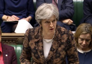 "The Associated Press MAY SPEAKS: Britain's Prime Minister Theresa May speaks in the House of Commons Monday in London. British Prime Minister Theresa May says her government has concluded it is ""highly likely"" Russia is responsible for the poisoning of an ex-spy and his daughter. May told British lawmakers on Monday that Sergei Skripal and his daughter, Yulia, were exposed to a nerve agent known as Novichok (Novice), a weapon developed in the Soviet Union in the end of the Cold War."