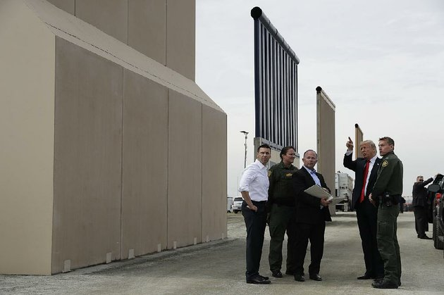 president-donald-trump-gets-a-close-look-at-border-wall-prototypes-tuesday-in-san-diego-trump-later-attended-a-high-dollar-fundraiser-in-los-angeles-where-he-was-to-stay-overnight