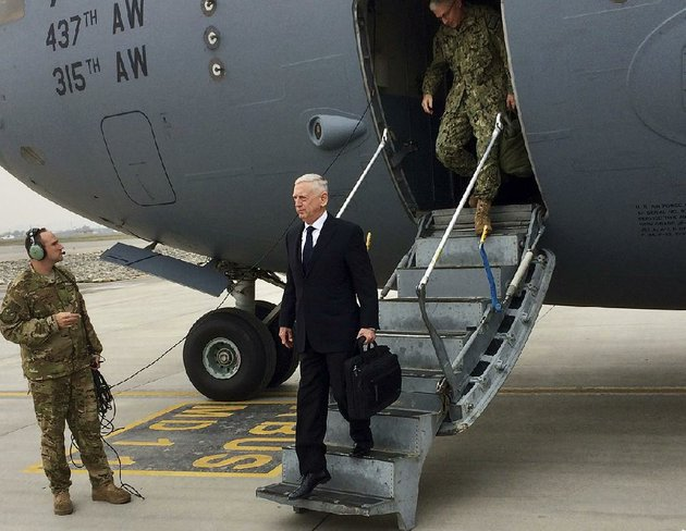 us-defense-secretary-james-mattis-arrives-tuesday-in-kabul-afghanistan-he-said-he-believes-victory-in-afghanistan-is-a-matter-of-dealing-with-taliban-members-who-are-tired-of-fighting