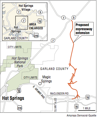 King road extension proposed in Hot Springs