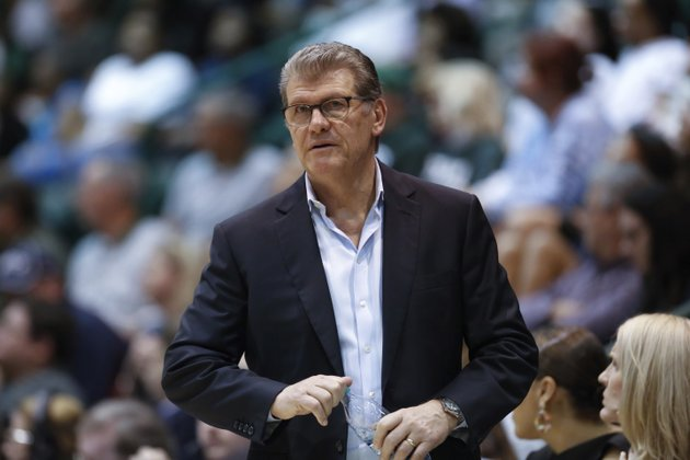 file-in-this-feb-21-2018-file-photo-connecticut-head-coach-geno-auriemma-watches-the-action-in-the-second-half-of-an-ncaa-basketball-game-against-tulane-in-new-orleans-auriemma-says-he-has-no-interest-in-coaching-the-schools-mens-team-but-the-hall-of-famer-who-has-won-11-national-championships-also-says-he-could-do-it-and-would-enjoy-doing-it-ap-photoscott-threlkeld-file