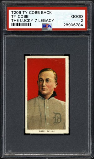 This undated photo shows the front of a Ty Cobb baseball card circa 1911, discovered by a family member in their great-grandfather's house.