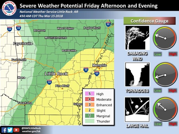 Forecasters Severe storms possible in parts of Arkansas large hail