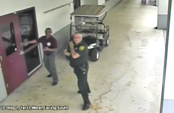 Video shows officer at Florida school shooting failed to act