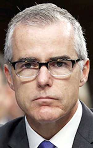 In this June 7, 2017 file photo, acting FBI Director Andrew McCabe appears before a Senate Intelligence Committee hearing about the Foreign Intelligence Surveillance Act on Capitol Hill in Washington.