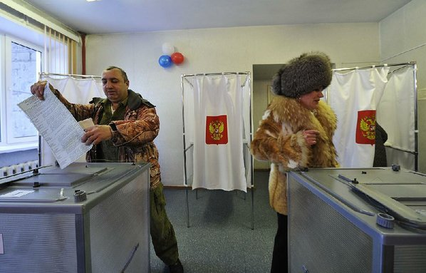 Russians living in Iran take part in presidential elections