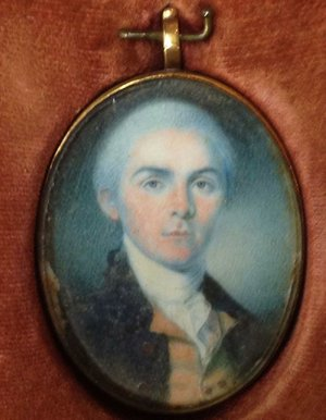 This miniature portrait of Robert Forsyth, painted by famed artist Charles Willson Peale, was donated to the U.S. Marshals Museum by the U.S. Marshals Service.