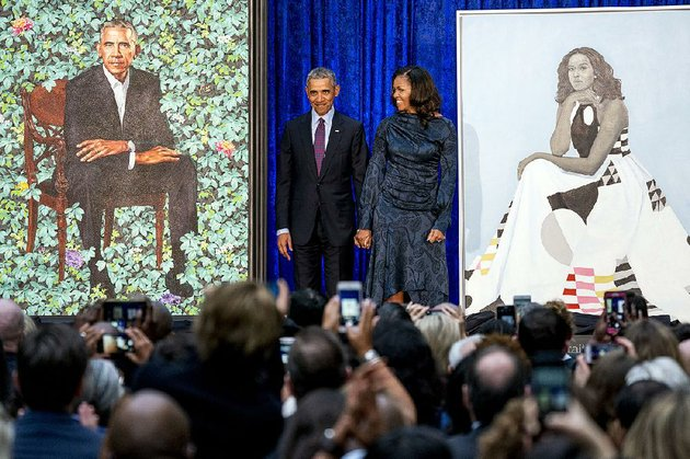 michelle-obama-arrives-with-former-president-barack-obama-for-the-unveiling-of-their-portraits-feb-12-at-the-smithsonian-national-portrait-gallery-in-washington