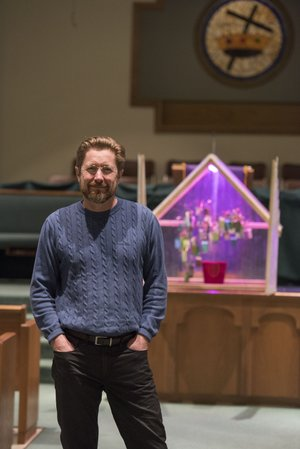 """NWA Democrat-Gazette/J.T. WAMPLER """"His sermons are filled with knowledge and insight, and they're so meaningful. When you're sitting there, you feel as though he's talking directly to you -- but everyone else feels that as well. That's when you know it's a great sermon."""" -- Deacon Stacy Grovey"""