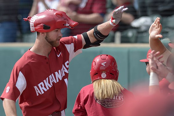 Arkansas Kentucky Saturday, March 17, 2018, during the inning at Baum Stadium in Fayetteville.