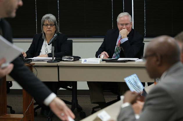 cheryl-may-left-chairman-of-the-arkansas-school-safety-commission-and-vice-chairman-bill-temple-preside-over-the-first-meeting-of-the-governor-created-group-on-tuesday-at-the-criminal-justice-institute-in-little-rock