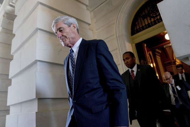 file-in-this-june-21-2017-file-photo-former-fbi-director-robert-mueller-the-special-counsel-probing-russian-interference-in-the-2016-election-departs-capitol-hill-following-a-closed-door-meeting-in-washington-president-donald-trump-is-questioning-the-impartiality-of-muellers-investigation-and-says-the-probe-is-groundless-while-raising-doubts-about-whether-a-fired-top-fbi-official-kept-personal-memos-outlining-his-interactions-with-trump-ap-photoandrew-harnik-file