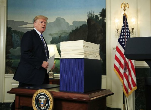 Trump Says He'll 'Never Sign Another Bill Like This Again'