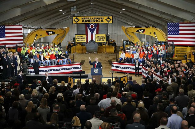 Trump touts infrastructure plan in Richfield