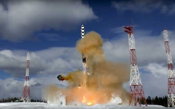 Russian Federation test fires intercontinental ballistic missile nicknamed 'Satan 2' by North Atlantic Treaty Organisation