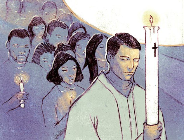 arkansas-democrat-gazette-easter-vigil-illustration