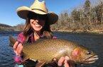 Becca Bouldin during birthday fishing trip.