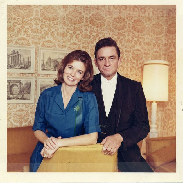 Johnny Cash Poses With His Wife June Carter
