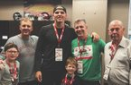2020 QB Shane Illingworth and family visit with Coach Chad Morris.