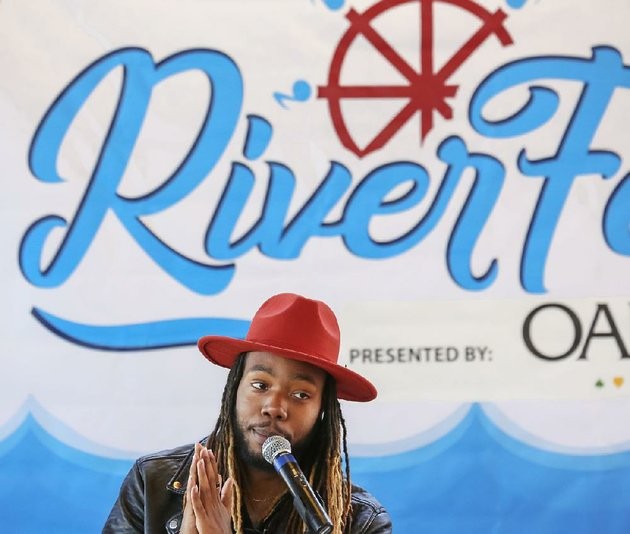 arkansas-democrat-gazettejohn-sykes-jr-riverfest-organizers-held-a-press-conference-on-wednesday-and-announced-the-lineup-of-musicians-for-the-festival-also-touching-upon-changes-to-the-festival-and-ticket-prices-little-rock-resident-levelle-davison-a-contestant-on-the-voice-television-program-and-himself-a-performer-at-the-festival-introduced-the-musical-lineup-the-press-conference-was-held-at-the-riverfest-pavilion-in-downtown-little-rock