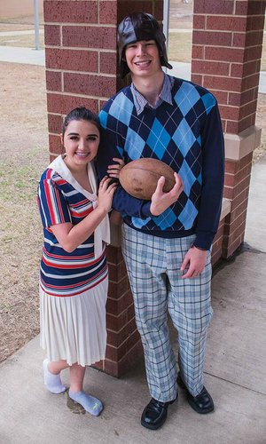 "Babe, played by Lexie Shipe, has her eyes set on Bobby, played by Wilson Gifford, in the Conway High School production of Good News! The musical is set in the 1920s on a college campus and features songs such as ""Life Is Just a Bowl of Cherries."""
