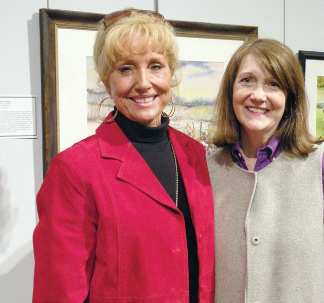 charlotte-rierson-of-fairfield-bay-left-and-nina-ruth-baker-of-conway-attend-the-opening-reception-of-the-48th-annual-mid-southern-watercolorists-juried-exhibition-march-9-in-little-rock-other-local-artists-with-work-in-the-exhibit-are-mary-ann-stafford-of-maumelle-and-suzann-waggoner-of-mount-vernon