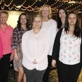 Robbie Brightwell (from left), Kaye Weathers, Anna Laswelll, Kelly Johnson, Elaine Thompson, Samanth...