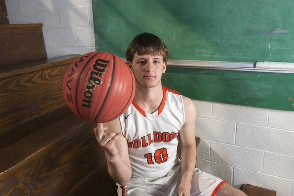 Division II Boys Newcomer of the Year Payton Brown of Waldron High School poses for a portrait, Thursday, March 15, 2018 at Springdale High School auxiliary gym in Springdale