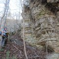 Angela Chandler, geologist supervisor with the Arkansas Geological Survey, marks locations of differ...
