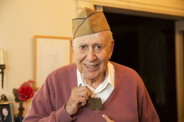 tv-legend-carl-reiner-your-show-of-showsthe-dick-van-dyke-show-is-one-of-the-veterans-featured-in-the-pbs-special-gi-jews-jewish-americans-in-world-war-ii-here-reiner-96-shows-off-his-dog-tags-marked-h-for-hebrew-he-wore-during-the-war