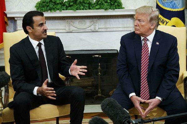 Trump extols Qatar on anti-terror, reversing past critique