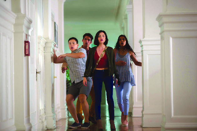 brad-hayden-szeto-lucas-tyler-posey-olivia-lucy-hale-and-penelope-sophia-taylor-ali-are-menaced-by-an-ancient-demon-who-wants-to-play-a-game-in-jeff-wardlows-horror-movie-truth-or-dare