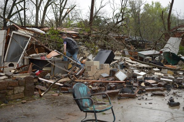 Serious Damage Reported, Tornado Forms in Mountainburg, Arkansas