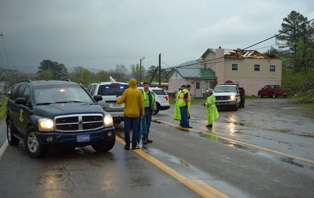 Tornado traps people inside homes in Arkansas