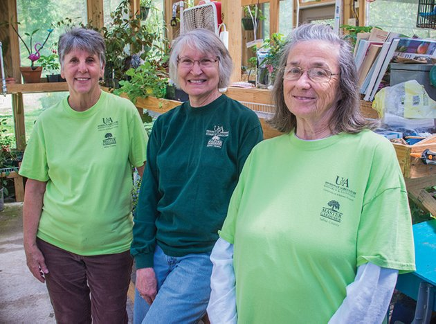 getting-ready-for-saturdays-plant-sale-are-from-left-saline-county-master-gardeners-joyce-spears-and-sandy-morris-both-of-avilla-and-sandy-rial-of-benton-they-have-been-propagating-plants-from-seeds-and-raising-them-in-a-greenhouse-for-saturdays-annual-plant-sale-at-the-saline-county-fairgrounds