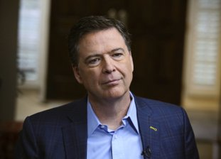 """In this image released by ABC News, former FBI director James Comey appears at an interview with George Stephanopoulos that will air during a primetime """"20/20"""" special on Sunday, April 15, 2018 on the ABC Television Network. Comey's book, """"A Higher Loyalty: Truth, Lies, and Leadership,"""" will be released on Tuesday. (Ralph Alswang/ABC via AP)"""