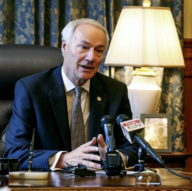 gov-asa-hutchinson-meeting-with-reporters-in-his-office-monday-morning-proposed-that-the-legislature-raise-the-annual-homestead-property-tax-credit-by-25-to-375